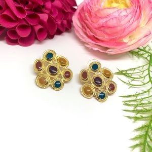 ⚜️VINTAGE Groovy 1970's Multicolor Earrings